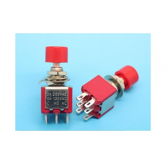 Opening red cap buttons 6 legs /Self-reset switch