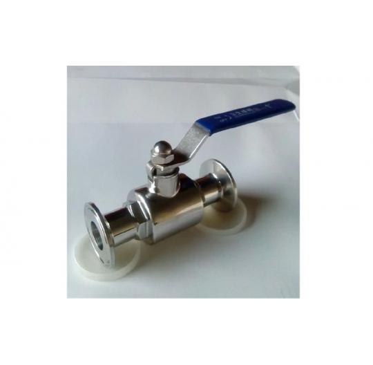 Stainless steel sanitary quick clamp ball valve Q81 polishing whip fast food-grade open ball valve
