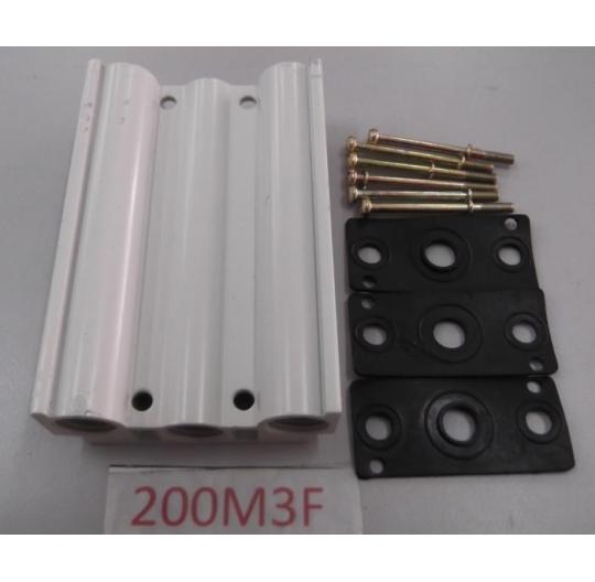 5/2 way solenoid valve manifold block