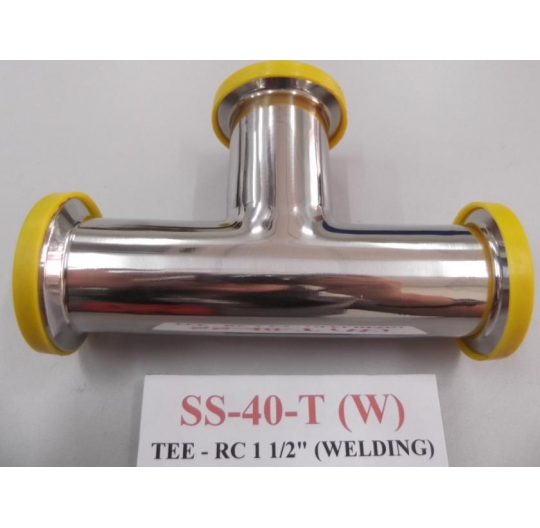 High-quality stainless steel valves quick food grade T-tee stainless steel mirror