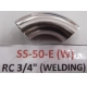 304 stainless steel sanitary polished welding / elbow 90 degrees /elbow bend mirror Φ19-Φ159