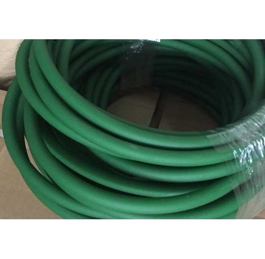 Polyurethane PU round belt matte dark green / circular conveyor belt O