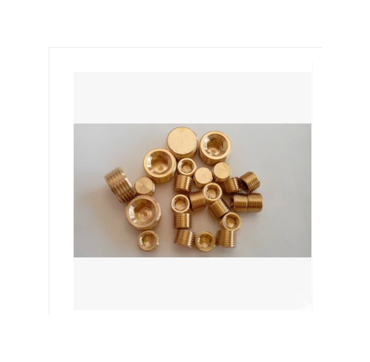 Hexagon brass plugs
