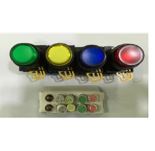 22MM manual reset full protection cover LED button switch