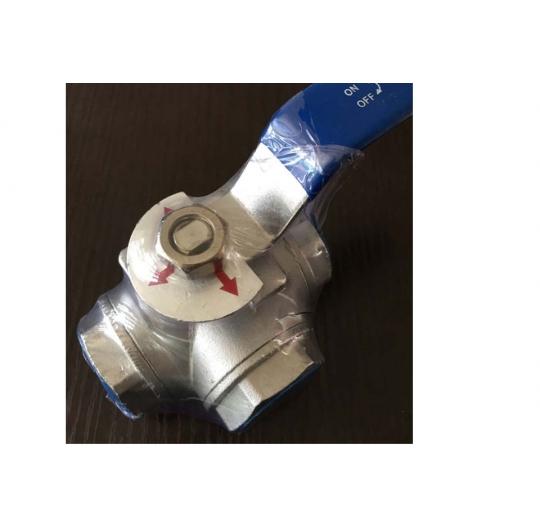 304 stainless steel three-way valve thread DN6-DN50 ball valve